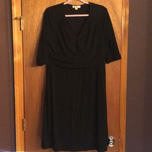 Merona Size XL instantly slimming black dress